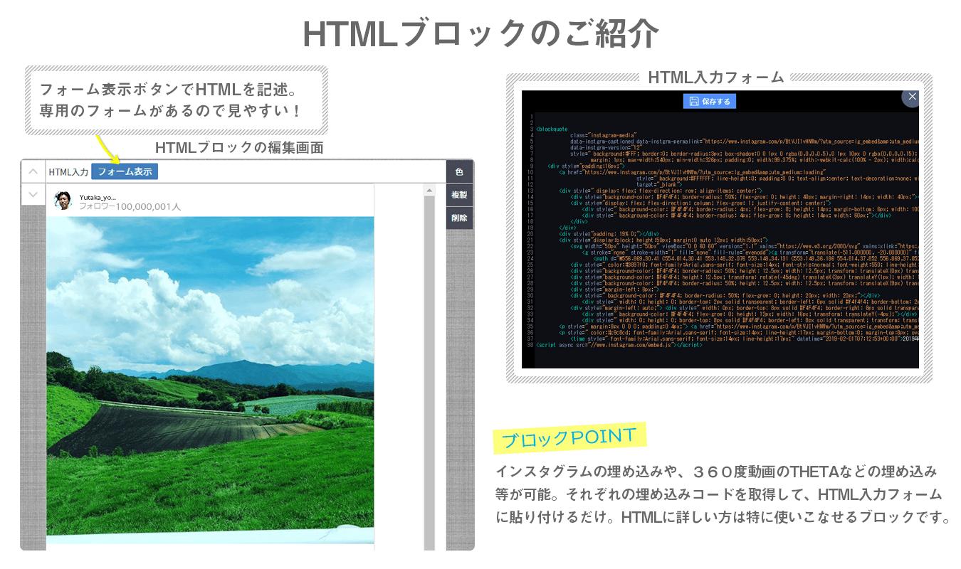 HTMLブロックの紹介