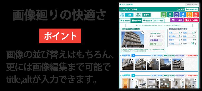 ドリームXで行う物件の画像情報入力のイメージ図
