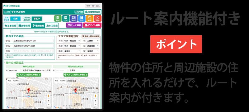 ドリームXで行う物件の地図情報入力のイメージ図