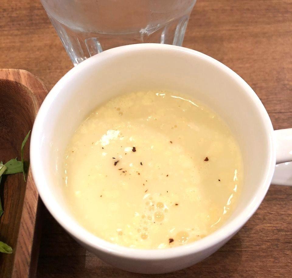 濃いコーンスープ