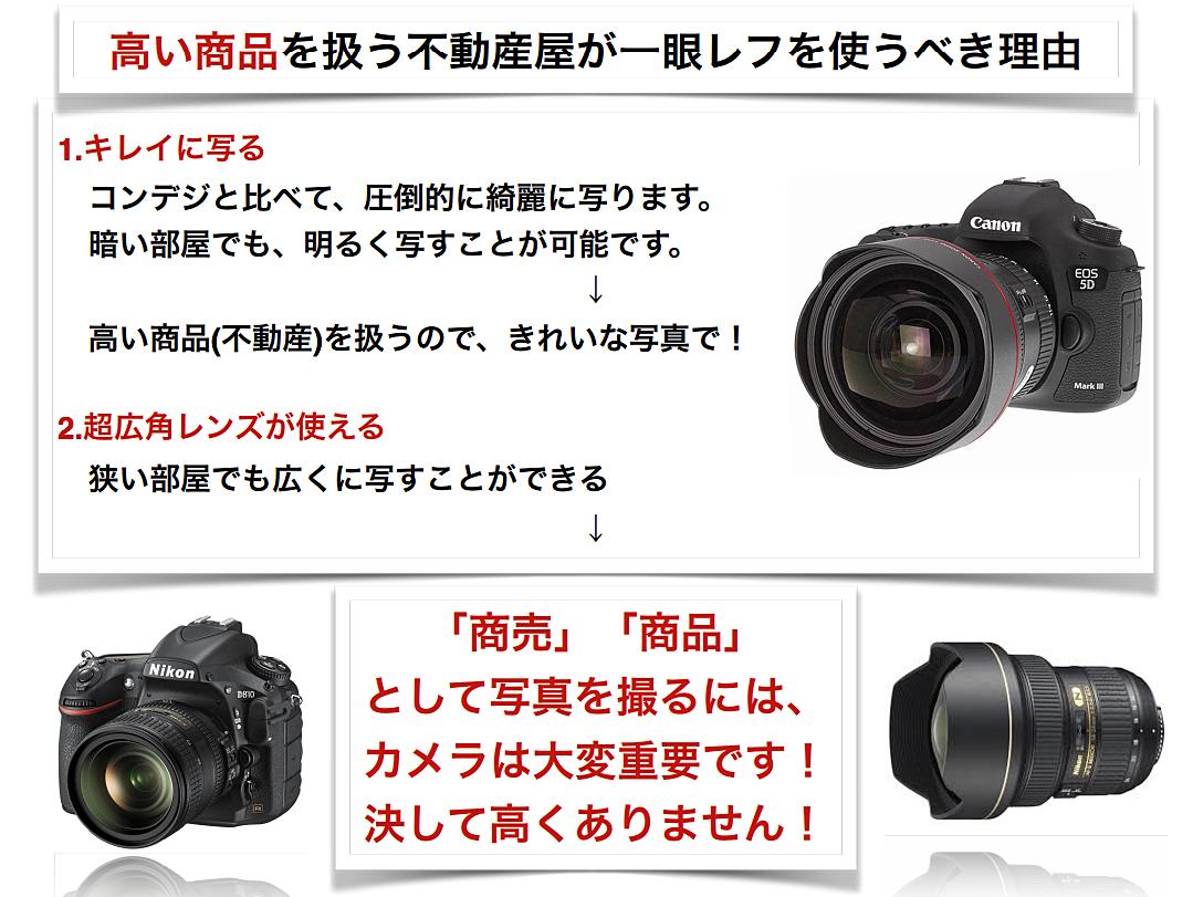 カメラの写真で1枚で成約することがあります